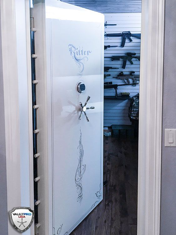 Vault Pro Custom Elite Series In-swinging Hinged Vault Door Custom Installed on Gun Room
