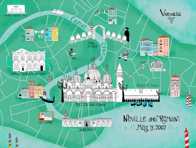 9 Vibrant Illustrated Maps of Venice