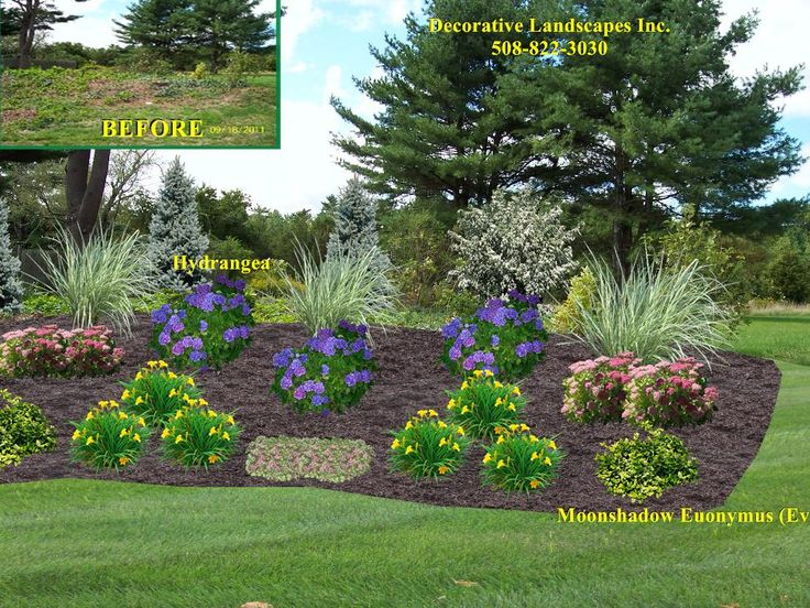 Front yard landscape designs in ma decorative landscapes for Landscape garden idea nottingham