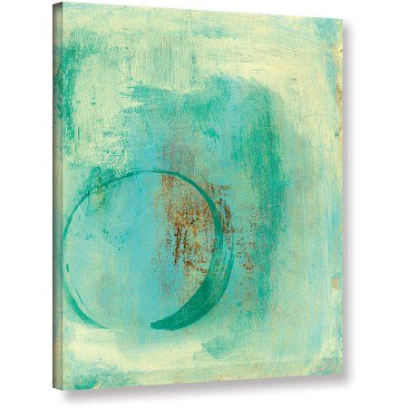 Elena Ray Teal Enso Gallery-Wrapped Canvas, Size: 24 x 32, Green