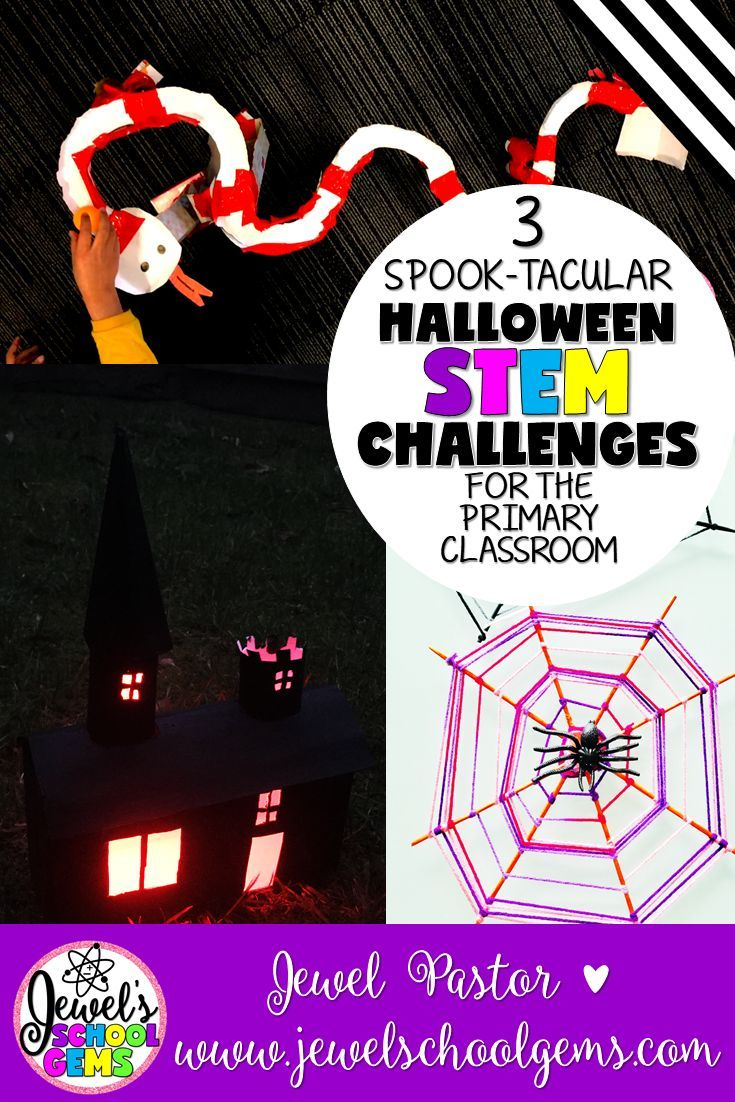 3 SPOOK-TACULAR HALLOWEEN STEM CHALLENGES FOR THE PRIMARY CLASSROOM | Halloween STEM Activities | Halloween STEM Projects | Halloween at school has changed a lot since I was a child. Many places have moved away from traditional celebrations full of scary games and sugary treats. If you are looking for alternative ways to celebrate Halloween, you can find them right here!