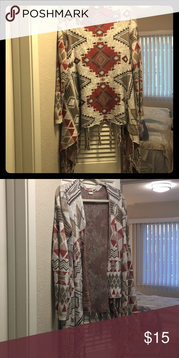 Tribal print shall Tribal print sweater / shall Sweaters Cardigans