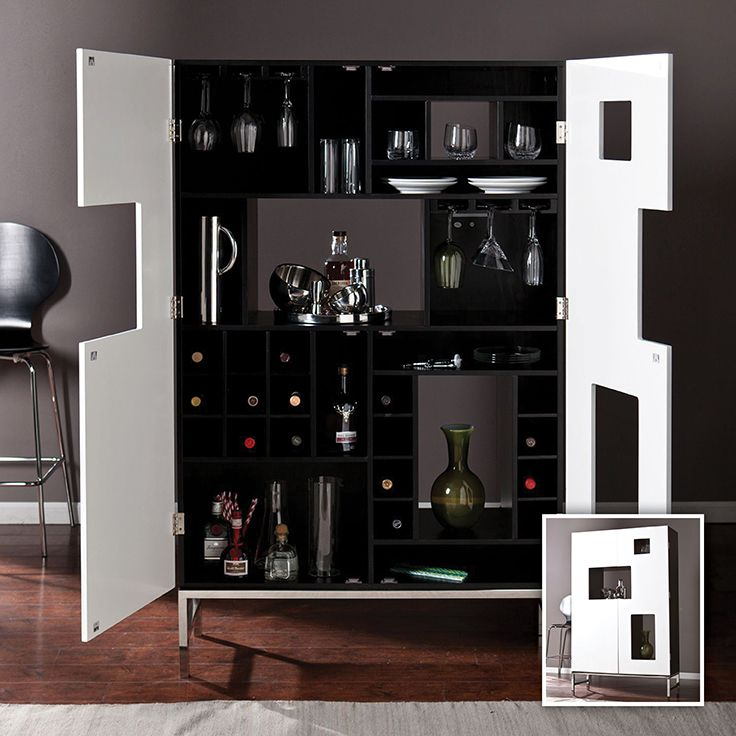Beautifully display and smartly organize your stemware, glassware and favorite spirits alongside the tools of the trade - all in one cabinet.