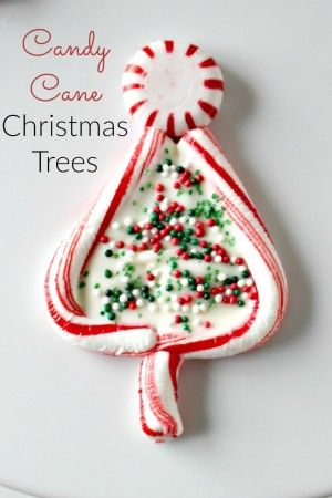 Candy Cane Christmas Trees - such a cute and easy Christmas treat
