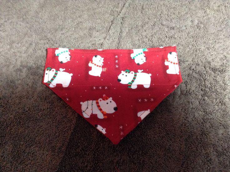 Christmas  Bandana Dog Puppy Collar Bandana Bandana Over Collar Bandana Dog Access Puppy Accessories Dog Scarfs Puppy Scarfs by chrissyscoatsfork9s on Etsy