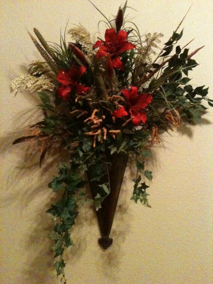 Best christmas flower arrangements images on pinterest