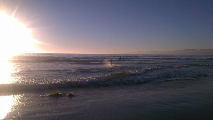 Stillehavet ved LA - ret koldt!