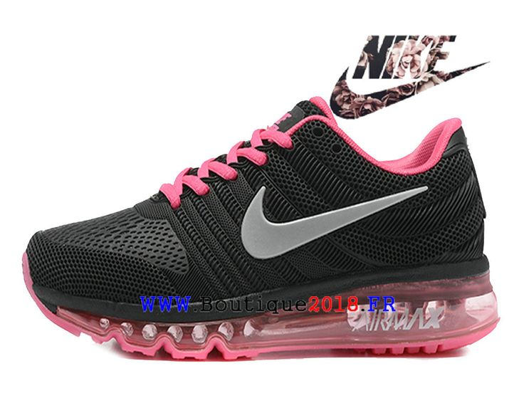Boutique Nike Air Max 2017 Chaussures Nike Moins cher Running Pas Cher Pour Femme Noir / rose
