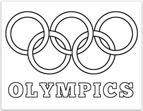 Olympic Rings Coloring Page | Plucky Momo