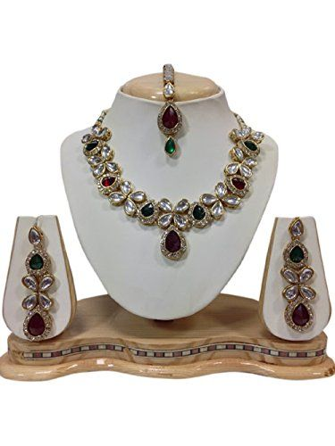 Indian Bollywood Traditional Pink Green Stones Kundan Gol... https://www.amazon.com/dp/B01KA7UMDM/ref=cm_sw_r_pi_dp_x_6n.PybQ71DYBM