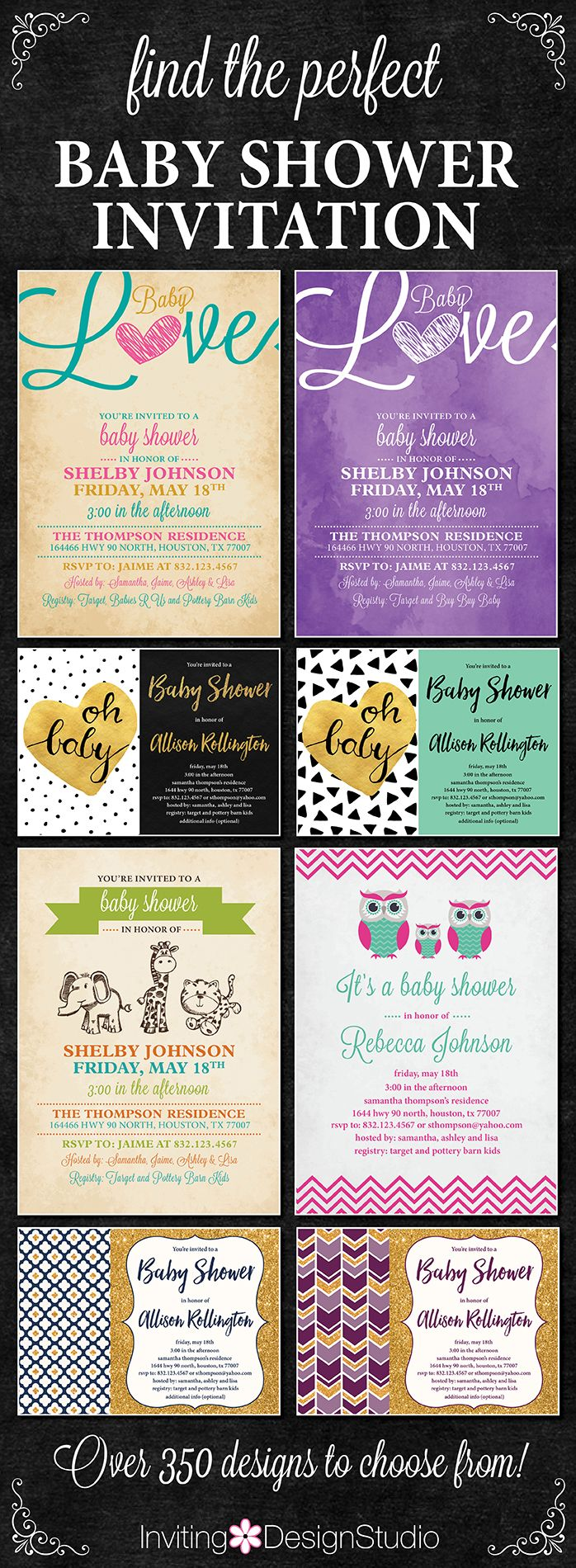 279 best Baby Shower Invitations images on Pinterest | Shower ...
