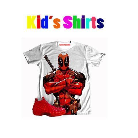 KIDS Foamposite Pro Red Deadpool TEE