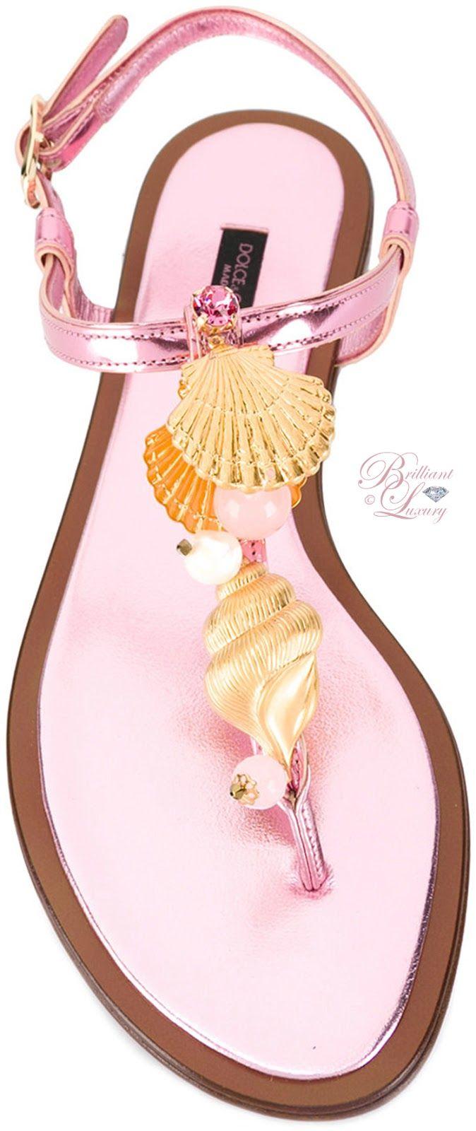 Brilliant Luxury by Emmy DE ♦ Dolce & Gabbana Golden Shell Sandals