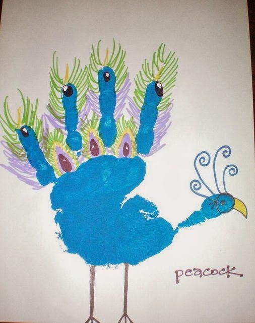 MissOwlCat: Baskı Yapıyoruz! (Kuşlar) Handprint art-
