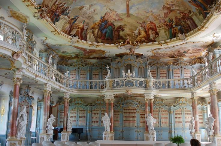 Bad Schussenried Bibliothekssaal, Baden-Württemberg,Germany