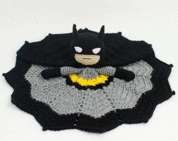 Batman lovey crochet security blanket by AdventuresInYarnia