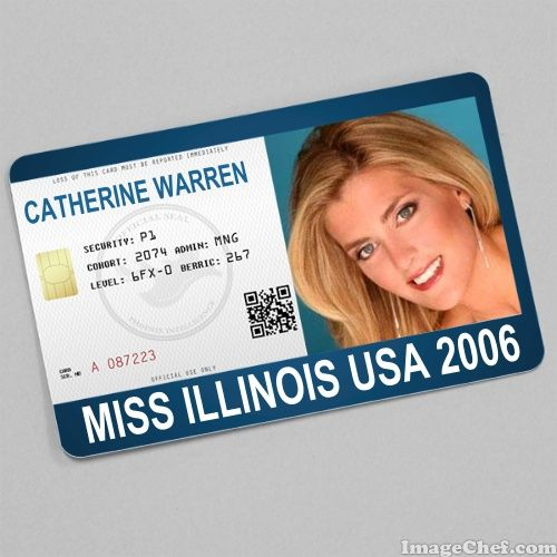 Catherine Warren Miss Illinois USA 2006 card