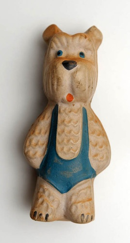 1950s Soviet Russia RUSSIAN  VINTAGE Rubber Toy DOG .