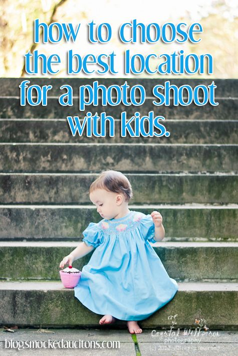 How do I choose the best location for a photo shoot with my kids?