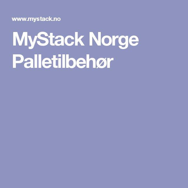 MyStack Norge Palletilbehør
