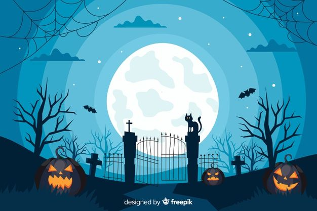 Download Flat Design Of Halloween Gate Background For Free Co