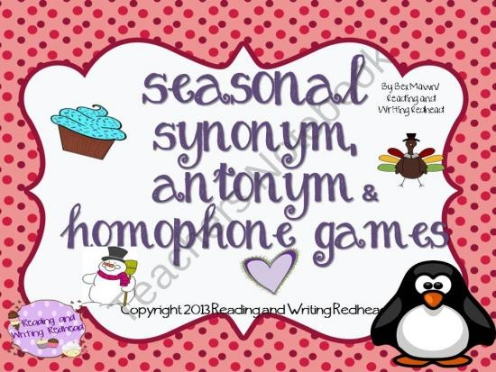 53 best synonyms images on pinterest school synonyms and antonyms save money by buying this pack of seasonal antonym synonym and homophone games m4hsunfo