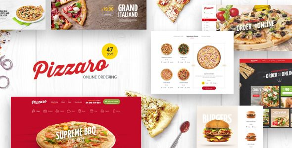 Pizzaro v1.0 - Food Online Ordering eCommerce PSD  -  https://themekeeper.com/item/psd-templates/pizzaro-food-ecommerce-psd