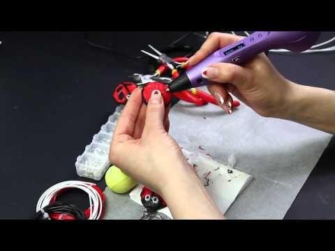 Ladybug 3D pen DIY Scribbler Coccinella penna 3D Portachiavi keyrings magnet - YouTube