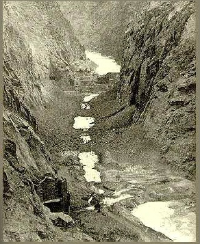1932 Colorado River Diverted, during construction of the Hoover Dam.