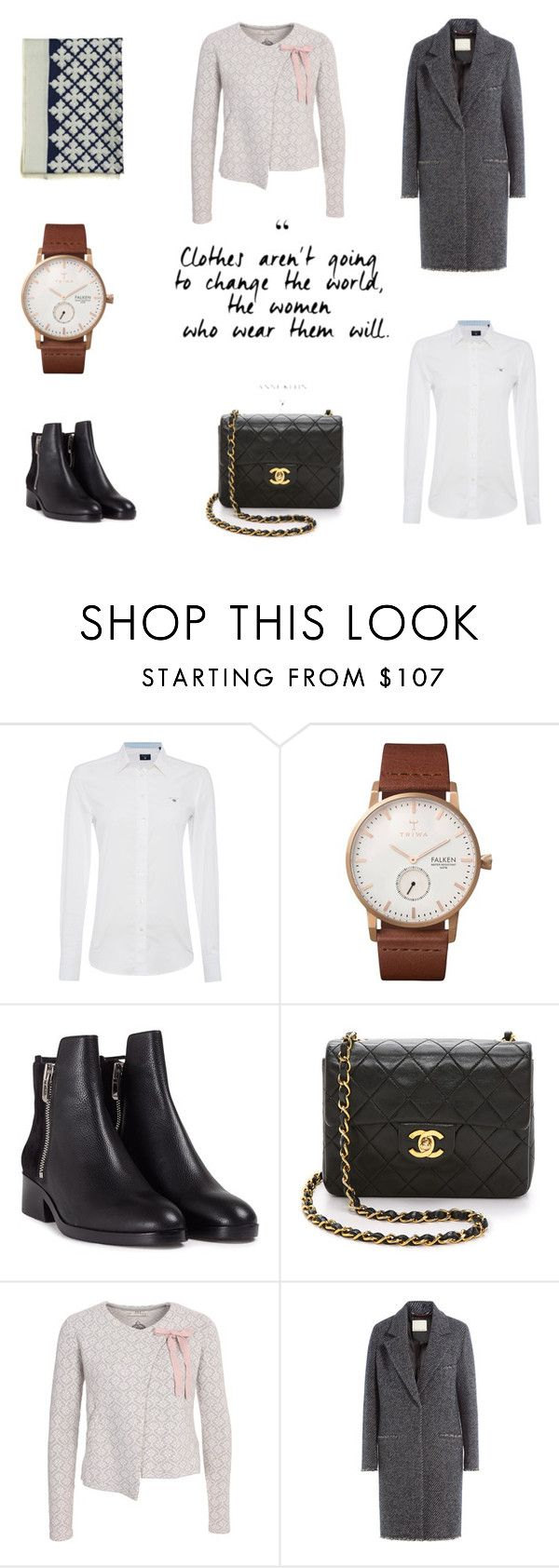 """""""Change the world"""" by majahellstrom on Polyvore featuring By Malene Birger, GANT, Triwa, 3.1 Phillip Lim, Chanel and Odd Molly"""