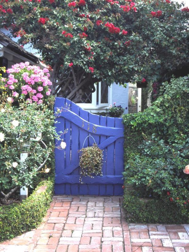 garden gate. I love the paint color!