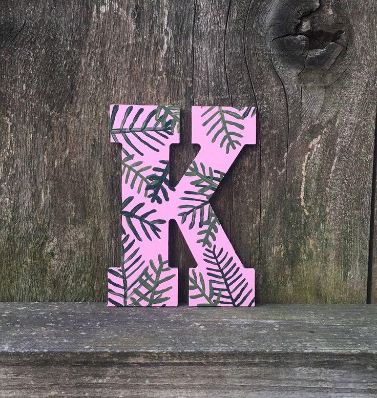 Sorority letters, sorority gift, big little sorority, sorority monogram, sorority decor, leaves decor, plant decor, painted letters by luxuryletters on Etsy https://www.etsy.com/listing/535715537/sorority-letters-sorority-gift-big
