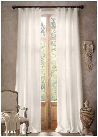 basket weave linen rodpocket drapery traditional curtains by restoration hardware