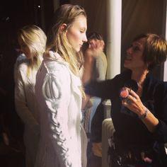 #graemeblack #DiGilpin #White coat #knitwear #backstage #cable #scottish