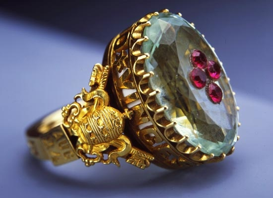 Bishops ring, actually, a papal ring of Pius IX