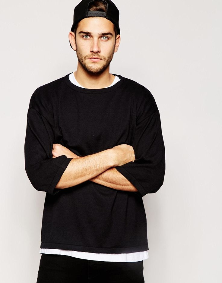 @asos  Oversized Knitted T-shirt #tee