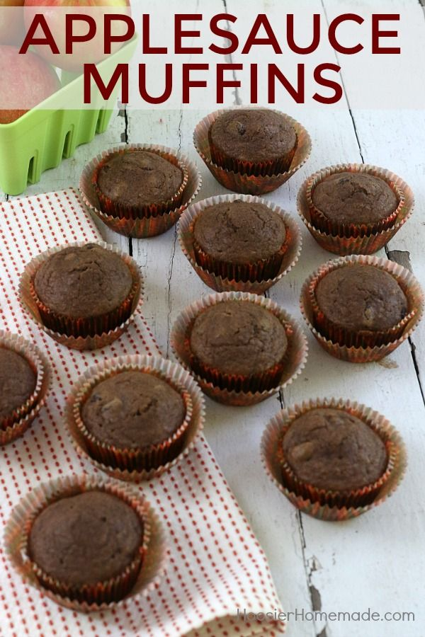 Applesauce Muffins | Recipe | Applesauce Muffins, Lunch Boxes and ...
