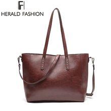 Herald Fashion 2017 Nové příležitostné kabelky pro ženy Velkokapacitní taška přes rameno Luxury Brand Tote Bag Žena PU kůže Bag Pouch (Čína (pevninská část))