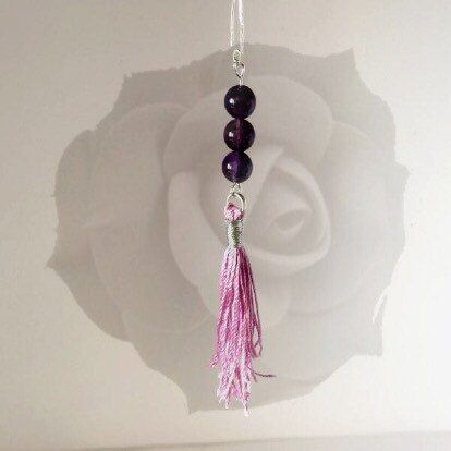 Beautiful present for your Mum! Handmade purple gemstone earrings.