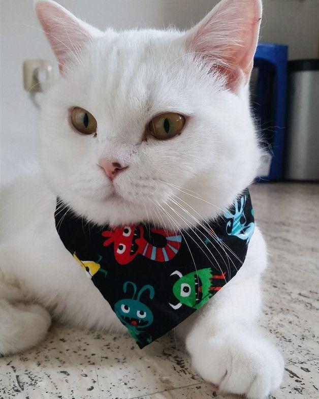 via en.dawanda.com Cat Collars – Halloween Cat Bandana - Little Monsters – a unique product by sammy_merlin on DaWanda