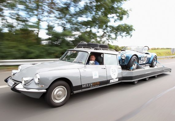 Citroen DS Tissier was a remarkable car-trailer combination. It used the normal 2.3 engine and hydro-pneumatic suspension.