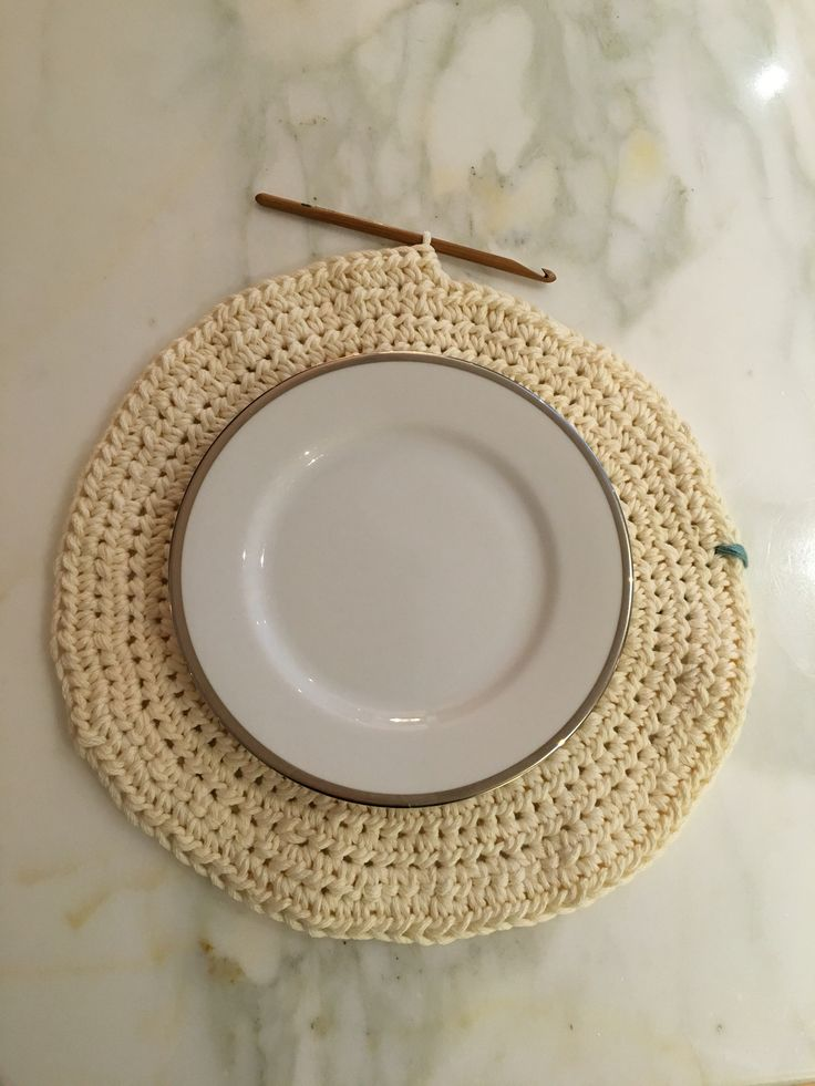 Set de table, crochet Addict