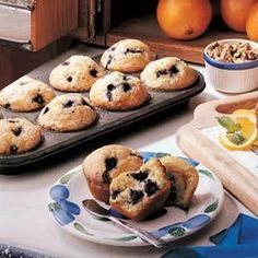 Frozen Blueberry Muffins - some of the best muffins I've ever made (used whole wheat flour & halfed the batch YUM) 5 star