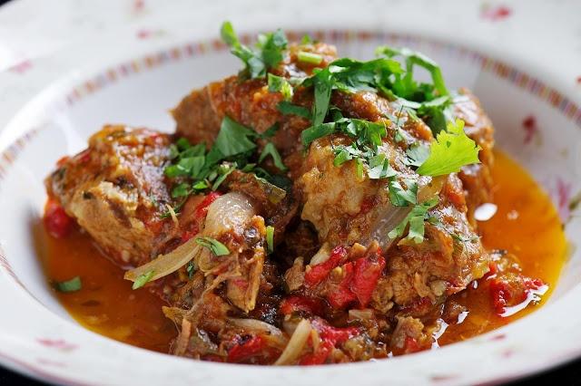 Georgian food, beef stew