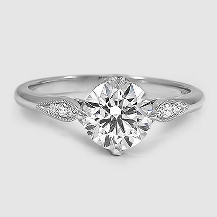 Our Jolie Diamond Ring set with a 1.79 carat diamond. #BrilliantEarth