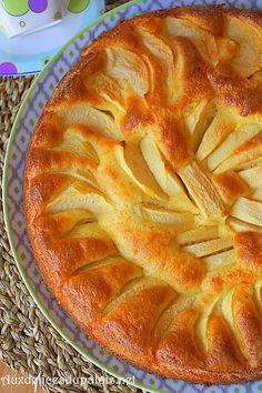 Gâteau aux pommes et mascarpone ultra moelleux et fondant à souhait.