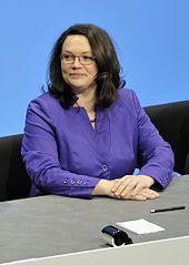 Andrea Nahles - Arbeits- und Sozialministerin