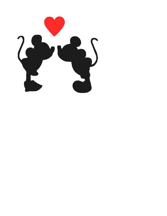5'' Mickey & Minnie Love Vinyl Decal by LauraliesCreations on Etsy, $5.00