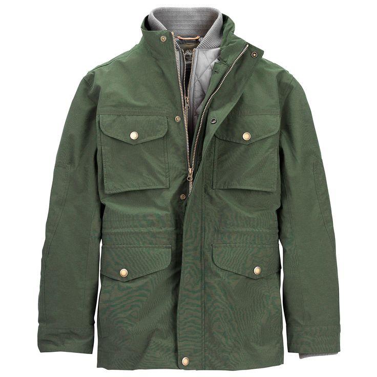 timberland mens mount clay 3in1 waterproof field jacket