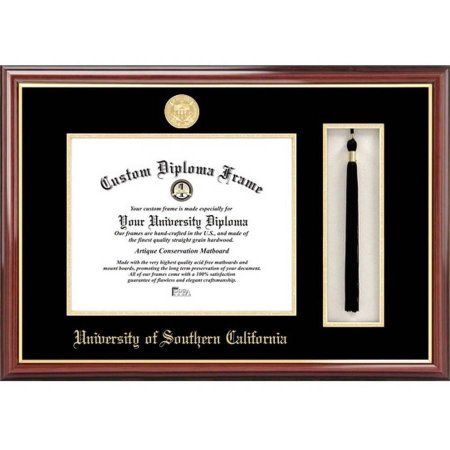 university of southern california 85 inch x 11 inch tassel box and diploma frame